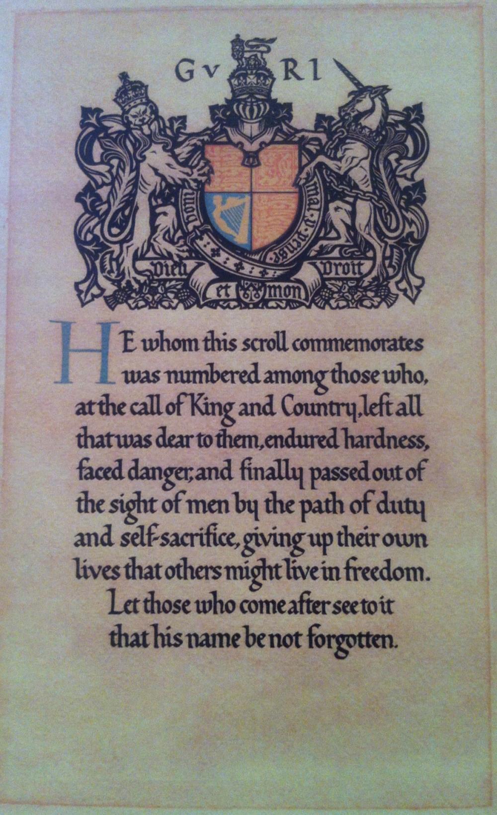 Facsimile documentsngs honourable discharge cert 1916 king facsimile documents xflitez Choice Image