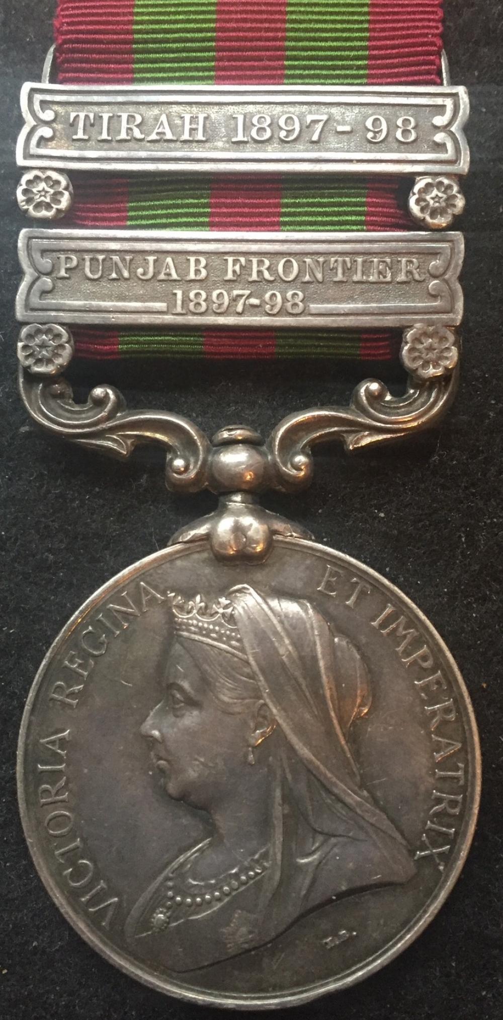 INDIA GENERAL SERVICE MEDAL 1896  (TIRAH 1897-98 & PUNJAB FRONTIER
