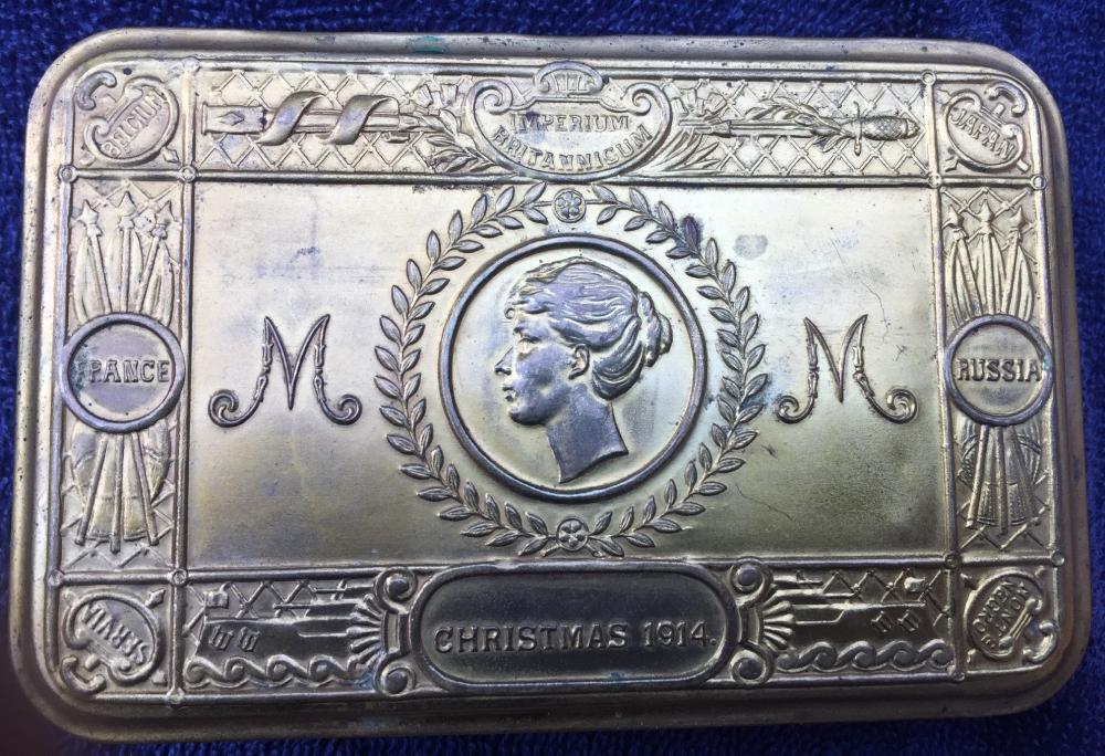 Princess Mary Brass Christmas Tins 1914