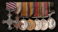 Distinguished Flying Cross (GV) 1918. 1914-15 Trio, Defence & War 39-45. Air Efficiency Medal (GVI)