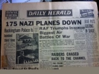 BATTLE OF BRITAIN NEWSPAPER (16th September 1940) Daily Herald