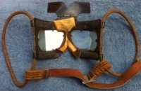R.A.F. FLYING GOGGLES (MkIVB) 1940 ´WITH SUN SHIELD´Battle of Britain´Type.