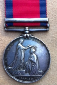 MILITARY GENERAL SERVICE MEDAL (Toulouse) 1st Dragoons. (part erased)