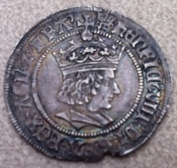 HENRY VIII ´Profile´ GROAT (mm, Portcullis) Nice EF, Superb Portrait