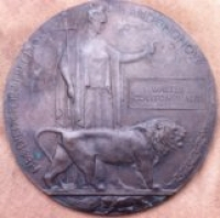 1st DAY (BATTLE of THE SOMME) CASUALTY. 1914-15 STAR TRIO & PLAQUE. 9th Yorks L.I. (Fricourt)
