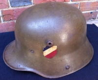 GERMAN STEEL HELMET (C,1916) No liner but totally original paint