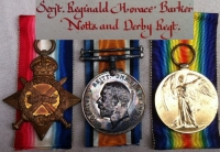 TWO BROTHERS.Killed Arras (1/7th Notts & Derby)�ROBIN HOODS� TRIOS, PLAQUES & SCROLLS