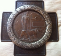 COPPER & �SILVERED� COPPER (Pressed) Death Plaque Frame 1914-18 (c,1920) By Wright & Son Edgeware.