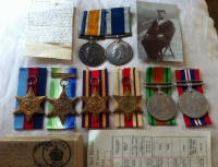 (Father)CHINA 1900, 1914-15 Trio & Plaque. (Son) Silver War Medal. World War II Medals (6) & LSGC GV.