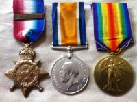 ROYAL FLYING CORPS. 1914 Star & Bar Trio.(MID) To: 887.2/AM. J. H. WOODLEY  RFC