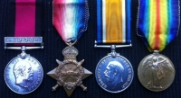 NATAL REBELLION MEDAL (1906) ´ROYSTON´S HORSE´ & 1914-15 TRIO.1st M.R. & 7th S.A.I.