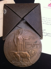 1914-18 Silver War Medal, Plaque, Scroll & papers.  K.I.A. 2/4/17. 19th Manchester Regt