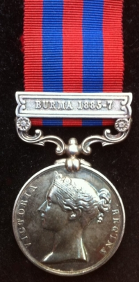 INDIAN GENERAL SERVICE MEDAL (1854) ´Burma 1885-7) 2nd Bn ROYAL SCOTS FUS (21st Foot)
