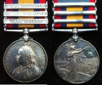 QUEEN�S SOUTH AFRICA MEDAL (3 CLASPS) Cpl. H.A. GALLOWAY. 26th Field Coy. R.E.