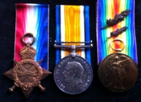 1914-15 TRIO. Rifle Brigade & RFA (Mentioned in Despatches) Totally Complete.
