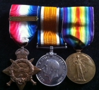 1914 Star & Bar Trio (Prisoner of War) 2nd Notts & Derby Regt.