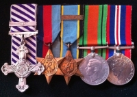 DISTINGUISHED FLYING CROSS & 2nd Award Bar.(1944).Bomb Ldr.103 & 625 Sqd. Lancasters.TWO LOGS
