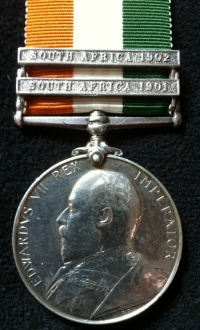 KING´S SOUTH AFRICA MEDAL.(SA01, SA02)To: 4420. L.Cpl. P.A. LE HAY. E. KENT REG.