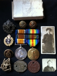 War Medal & Victory .To: 3 AM. 197641 A.W. MACKINTOSH  R.A.F. (Previously RFC) +Badges, Tags & Pics etc