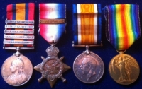 Five Bar Q.S.A. & 1914 Star & Bar Trio, To: (Sgt Drummer) 2nd Wiltshire Regt