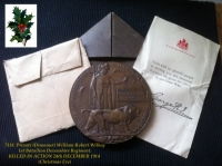 Superb 1914 Star & Bar Trio & Plaque.1st/Devons. KILLED IN ACTION. (A Christmas Truce Casualty). 24th December,1914.