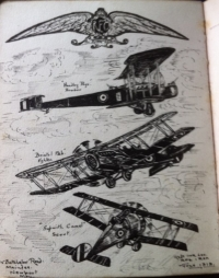 Superb RFC 1915 Trio. To. 2AM-Observer-F/Lt (1 Albatros Kill 1917 ) Masses of photos & papers.