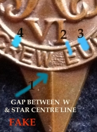 COMPARISON PHOTOS OF GENUINE & FAKE AIRCREW EUROPE STARS