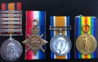 A Rare Boer War & Great War Q.S.A. (6 Bar) & 1915 Trio, Casualty (Battle of Passchendaele) R WARWICK R