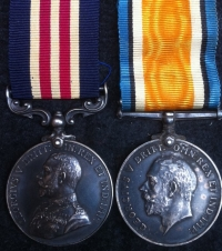 MILITARY MEDAL & Silver War Medal. 