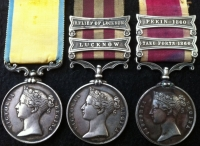 BALTIC MEDAL, INDIAN MUTINY  (Lucknow & Relief of Lucknow) & CHINA WAR (Taku Forts 1860 & Pekin 1860) to HMS SHANNON. R.M.A. (Naval Brigade)