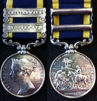A Rare PUNJAB MEDAL. Clasps 'GOOJERAT' & 'CHILIANWALA'. To: ISAAC BAMBRY 61st Foot (The Gloucester Regt).