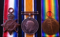 A Rare and Desirable, 1914-15 Trio. ROYAL DUBLIN FUSILIERS. Killed-in-Action, 6th April 1916. Loos Memorial to The Missing