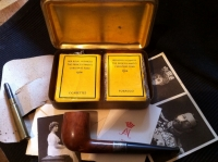 A SUPER RARE & 'MINT' MARY 1914 CIG' BACCY' & PIPE SET, WITH: ORIGINAL