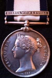 A MAGNIFICENT & SUPER RARE NAVAL GENERAL SERVICE MEDAL, CLASP (HEBRUS WITH L