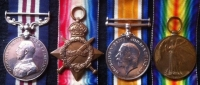 "A RARE ""TWO BROTHERS"" DOUBLE CASUALTY GROUP, 1914 Star & Bar Trio & Plaque,K.I.A.1st JULY 1916 (1st DAY OF THE SOMME) 5th LONDON Rgt & MILITARY MEDAL & 1915 Trio & Plaque. K.I.A.15th JULY 1916. ROYAL FUS."
