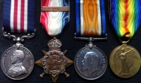 "A RARE & DESIRABLE ""1st DAY of THE SOMME"" (Beaumont Hamel)  MILITARY MEDAL & 1914 Star & Bar Trio: To: 6583. Pte (Bandsman) E.J. BRIGHTMORE 1/EAST LANCASHIRE Regt. ""for ""gallant conduct on 1 July 1916"""