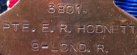 AN UNUSUAL 1st DAY of THE SOMME 1914-15 CASUALTY TRIO. To: 3801 Rfmn E.R. HODNETT 1st/9th LONDON Regt  (QUEEN VICTORIA
