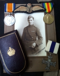 "A Superb & Rare R.F.C./ R.A.F. ""FLYING CIRCUS (TWO KILLS) COMBAT "" Immediate MILITARY CROSS. With original signed photograph. To: 2/Lt O.C.BRIDGEMAN. A 5 kills"
