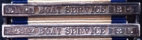 "AN IMPORTANT NAVAL GENERAL SERVICE MEDAL. TWO CLASPS for ""THE AMERICAN WAR of 1812"" [Ap & May] BOAT SERVICE [1813] & [8th APRIL] BOAT SERVICE [1814] To: Midshipman, F. L"