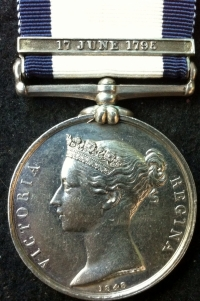 "An Excessively Rare NAVAL GENERAL SERVICE MEDAL (12 JUNE 1795) To: Landsman. Thomas JOHNSON (H.M.S. MARS). ALMOST CERTAINLY A VICTIM OF THE ""PRESS GANG"" Took Part in the Famous ""Cornwallis"
