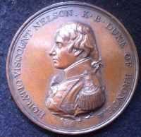 MR BOULTON'S TRAFALGAR MEDAL (Plain Edge) 3rd Issue in BRONZE. Unusually well struck.