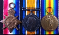 "A GREATLY DESIRABLE ""1st Day, Battle of The Somme"" (Beamont Hamel) 1st July 1916 Casualty.1914-15 Trio & Plaque.To:18629.Pte JOHN WILLIAM HIGGINSON. 1st Bn EAST LANCASHIRE REGT. From Clayton-le-Moors."
