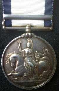 A Scarce & Attractive Royal Marines NAVAL GENERAL SERVICE MEDAL (NAVARINO) To: THOs RHODES. H.M.S ALBION & H.M.S GENOA. Only 1,137 clasps awarded.