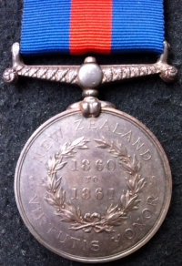 "A MOST IMPORTANT ""ROYAL NAVY"" (First Taranaki War) NEW ZEALAND MEDAL 1860-1861. 