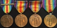 "UNITED STATES OF AMERICA ALLIED VICTORY MEDAL (4) One with ""MONTDIDIER-NOYON"" CLASP"