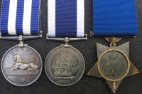 "An Excellent ""DEVON & CORNWALL"" Naval Egypt & Khedives Star, LSGC Trio: To: F.C.E. LAHIVE, Boy 1st Class HMS MONARCH & later Boatman, H.M. COASTGUARD. (St. Anthony & St Mawes)."
