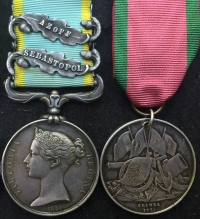"A Highly Unusual & Rare ""Naval"" Crimea Medal & Turkish Crimea Pair.  Clasps AZOFF & SEBASTOPOL. Unnamed as Issued. 