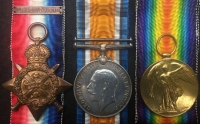 "A VERY RARE (Battle of Gaza) ""TURKISH PRISONER OF WAR"" 1914 STAR & BAR CASUALTY TRIO & PLAQUE.To: 6867 Pte W. Douglas 1/Bedf: Regt & 201130. 4th Essex Rgt. DIED IN TURKISH CAPTIVITY 2nd Oct,1917."