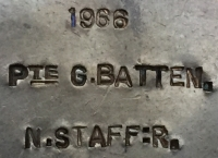 "A HIGHLY DESIRABLE 1914-15 Star ""First Day Battle of The Somme"" CASUALTY Trio. To: 1966. Pte G.R. BATTEN  6th Bn North Staffordshire Regt. KILLED IN ACTION. 1st JULY 1916. ( FROM WOOD GREEN, LONDON)"