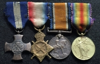 "A VERY RARE & DESIRABLE ""SUBMARINE SERVICE"" DISTINGUISHED SERVICE CROSS & 1914-15 Trio, (M.I.D. Four Times) 1939-45 War Medal & R.N.V.R. Decoration.Lt Cdr C.S. Sim. DSC. R.N.R. & Royal Australian Naval Brigade"